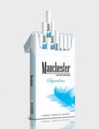 Manchester Superslims blue cigarettes 10 cartons