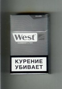 West Carbon Filter Silver Cigarettes 10 cartons