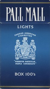Pall Mall light 100s Cigarettes 10 cartons