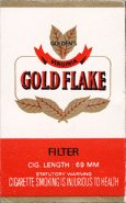 Gold Flake Golden's Virginia Filter Cig. Length 69 MM 10 carton