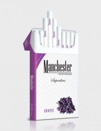 Manchester Superslims grapes cigarettes 10 cartons