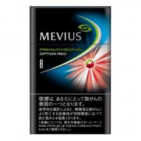 MEVIUS PREMIUM MENTHOL OPTION RED 8 cigarettes 10 cartons