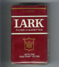 Lark Filter With the Gas-Trap Filter red soft box cigs 10 carton