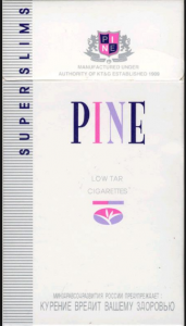 South Korea PINE SUPER SLIMS cigarettes 10 cartons