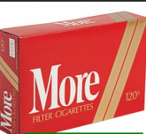 More red Filter 120's cigarettes 10 cartons