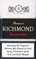 RICHMOND PLATINUM FILTER cigarettes 10 cartons