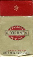GOLD FLAKE W.D. & H.O. Wills Honey Dew. (Statutory warning, desi