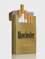 Manchester Round Corner Classic Gold cigarettes 10 cartons