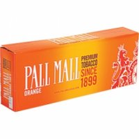 Pall Mall Orange 100's cigarettes 10 cartons
