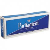 Parliament Lights 100's, White Pack, Box cigarettes 10 carton