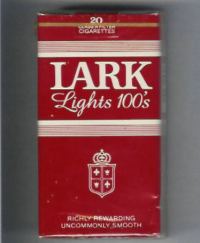 Lark Lights 100s Richly Rewarding red and white cigs10 cartons