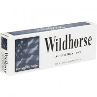 Wildhorse Silver 100's Box Cigarettes 10 cartons
