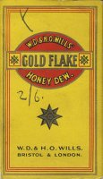 Gold Flake W.D. & H.O. Wills' Honey Dew. 10 cartons