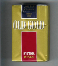 Old Gold Filter Kings gold and red soft box cigarettes 10 carton