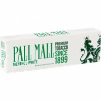 Pall Mall White 100's Cigarettes 10 cartons