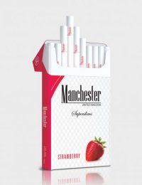 Manchester Superslims strawberry cigarettes 10 cartons