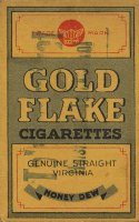 Gold Flake Cigarettes Genuune Straighn Virginia Honey Dew
