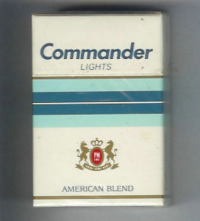 Commander Lights American Blend cigarettes 10 cartons