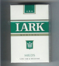 Lark Milds Menthol white and green Cigarettes 10 cartons