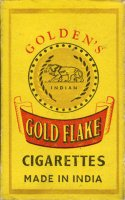 Gold Flake Golden's Cigarettes Made India 10 cartons