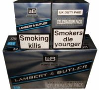 lambert & butler cigarettes celebration pack 10 cartons