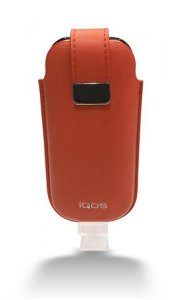 IQOS LEATHER POUCH - TIGER LILY (ORANGE)