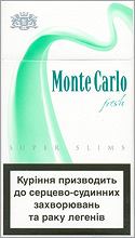 Monte Carlo Super Slims Fresh 100`s cigarettes 10 cartons
