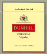 Dunhill International Lights Cigarettes 5 cartons
