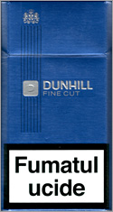 Dunhill Fine Cut Dark Blue 100`s Cigarettes 10 cartons