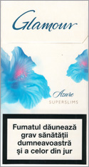 Glamour Super Slims Azure 100's Cigarettes 10 cartons