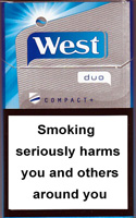 WEST DUO COMPACT+ cigarettes 10 cartons