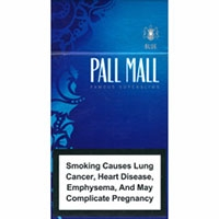 Pall Mall Blue Slims Cigarettes 10 cartons