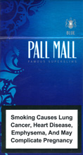 PALL MALL SUPER SLIMS BLUE (LIGHTS) 100`S Cigarettes 10 cartons