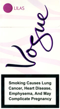 Vogue Super Slims Lilas 100s Cigarettes 10 carton
