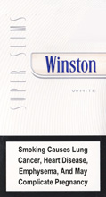 WINSTON SUPER SLIMS WHITE 100S cigarettes 10 cartons